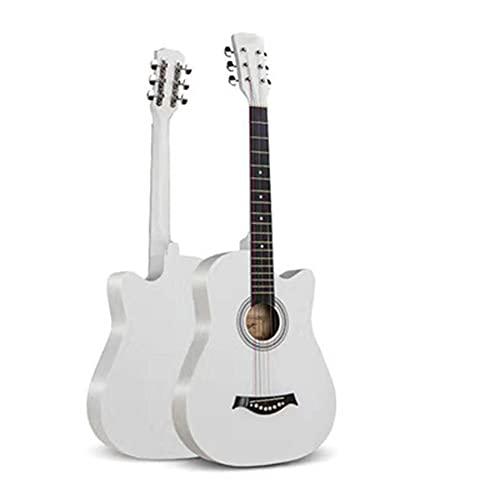YYFANG Guitarra Acústica, Guitarra Acústica Folklórica Abeto Practica Tocar Y Cantar Chapa Cuerda De Guitarra Correa De Guitarra Bolsa De Guitarra, Apto para Principiantes Masculino Mujer