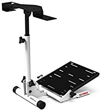Extreme Simracing Wheel Stand SPRO - White Edition Racing Simulator For Logitech G25, G27, G29, G920, Thrustmaster And Fanatec - Extremely Compact