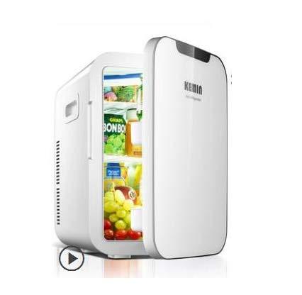 OutingStarcase 20L Coche Pequeño refrigerador Dormitorio doméstico Alquiler de casa de doble uso individual de doble congelador (Color : White)