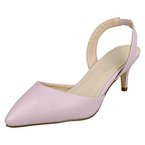 Spot on Damen Kätzchenabsatz, Violett - fliederfarben/violett - Größe: 39 EU