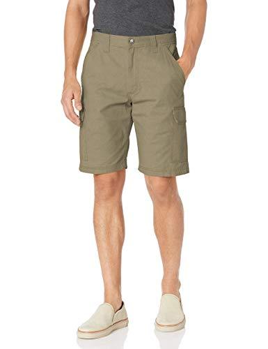 Wrangler Authentics Men's Big & Tall Classic Relaxed Fit Cargo Short, Military Khaki Ripstop, 48