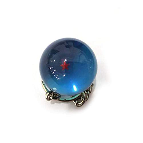 PortachiaviCheDragon Ball Super Keychain 3DCosplay Sfera di Cristallo Portachiavi Collezione di Giocattoli Regalo Portachiavi, Blu, Sette Stelle