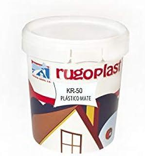 Rugoplast KR-50 - Pintura Plástica de Alta Calidad Interior/Exterior Ideal para Decorar tu Casa (Salón, Cocina, Baño, Dormitorios), Blanco Mate, 750ml