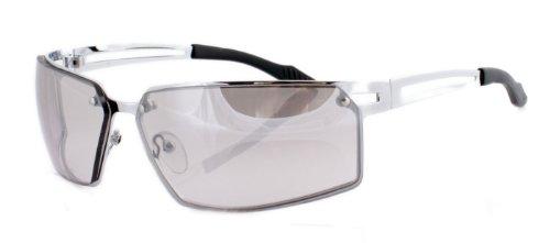 Iconeyewear Metallbrille Metall Sonnenbrille für Sport und Freizeit Silber Clear
