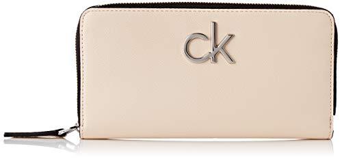 Calvin Klein Damen Re-lock Ziparound Wallet Lg Geldbörse, Pink (Light Sand), 1x1x1 cm