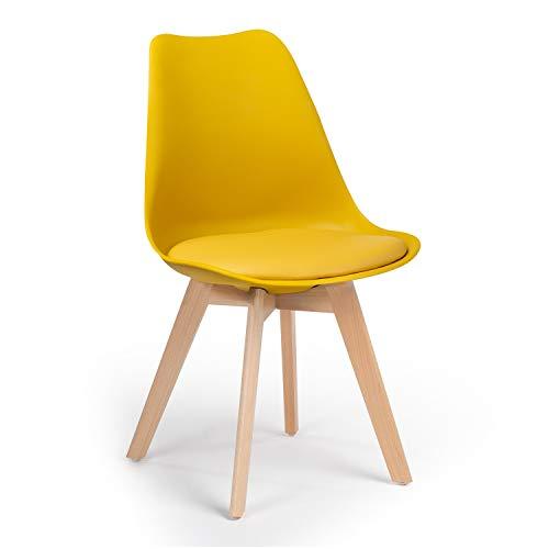 SKLUM Silla Nordic Amarillo Curri - (Elige Color)