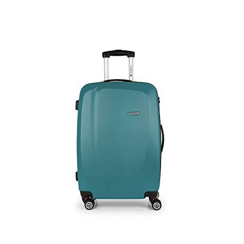Gabol - Line | Maletas de Viaje Medianas Rigidas de 44 x 68 x 25 cm con Capacidad para 61 L de Color Turquesa