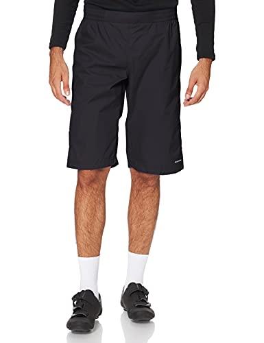 VAUDE Men's Drop Short de Pluie Sportif pour Le Cyclisme # imperméable, Coupe-Vent et Respirant # léger et Compact # Fabrication écologique Homme, Black, FR : S (Taille Fabricant : S)
