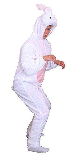 Foxxeo Premium Plsch Hasen Kostm fr Erwachsene Damen und Herren Tierkostm Overall Jumpsuit Grße XL
