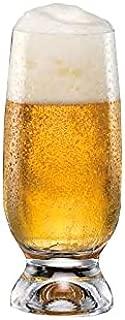 Crystalex 350106-01A, 11.8-Ounce Gina Beverage Glass, Beer Highball Glasses, Heavy Base High Ball Beverage Crystal Set, Sling Glass Cocktail Beer Drinking Glasses Set, Set of 6