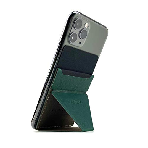 MOFT X 最薄クラス iPhone Android スマホスタンド スマホホルダー スキミング防止カードケース (ダークグリーン)