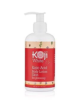 Koji White Kojic Acid Skin Brightening Body Lotion – Natural Moisturizer & Glowing – Dark Spots Uneven Skin Tone 8.45 Ounce Bottle