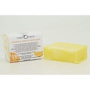 1 piece Tangerine & Lemon Glycerine Soap, 95g Handmade Sulphate free:Schedulingsoftware