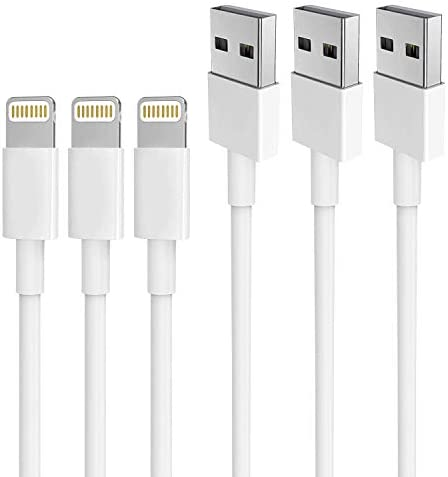 iPhone Charger AUNC 3PACK 6Feet Long Lightning to USB Charging Cable High Speed Connector Data product image