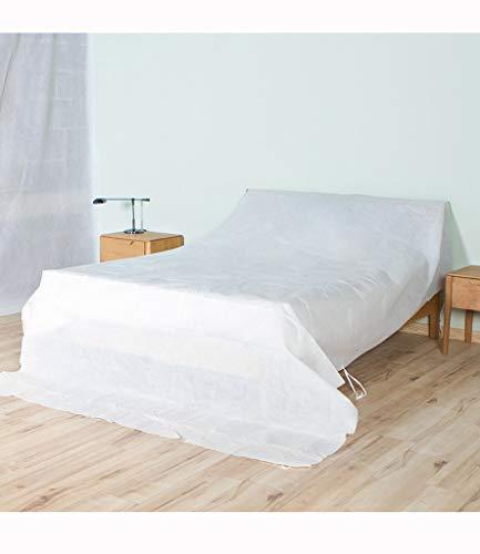 YMYP08 Sofa bed stofomslag, meubels stofkap doek waterdichte stofdichte zonnebrandcrème geschikt voor bed kast bank stoel wit (200 * 320cm)