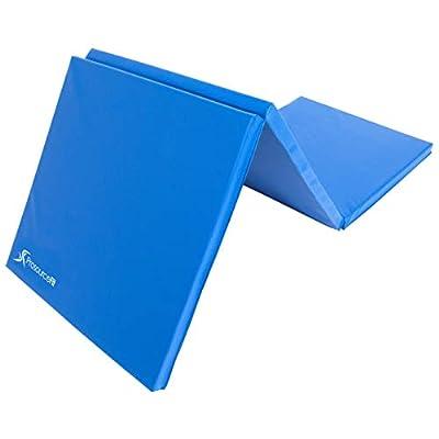ProsourceFit Tri-Fold Folding Exercise Mat - Blue