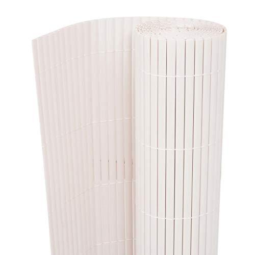 pedkit Sichtschutzzaun PVC Weiß Windschutz Sichtschutzmatte Zaun, 170 x 300/500 cm