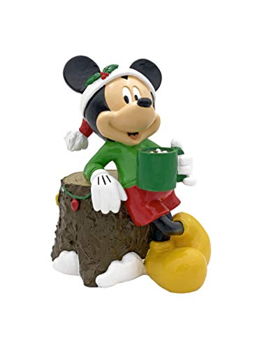 The Galway Company Disney Mickey Mouse Garden Statue Drinking Cocoa, Stands 7 Inches Tall and 6 Inches Wide