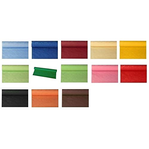 PAPSTAR Papier-Tischrolle mit Damastdruck - Länge: 8 m - Breite: 1,20 m Farbe olivegrün