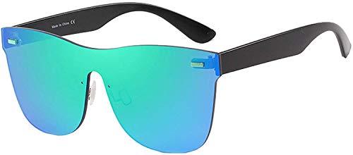 Nihexo Infinity Fashion - Gafas de sol polarizadas con lentes de espejo completo, lentes cuadradas modernas, lentes llenas de colores para mujeres y hombres en la playa