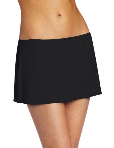 JAG Women's Solid Skirted Swim Swimsuit Bottom, Black, Medium