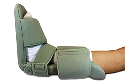 Padded Night Splint 90 Degree Immobilizing Stretching Sleeping Boot- Recovery for Plantar Fasciitis, Drop Foot, Achilles Inflammation, Heel Spurs and More by Brace Direct by Brace Direct
