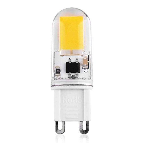 PerGrate G9LED Lampadina 6W/9W, ca 320-240V, luce dimmerabile e decorativo lampada G9COB LED ultra luminoso 360-350LM, angolo del fascio di luce illuminazione, Warm White, 9W