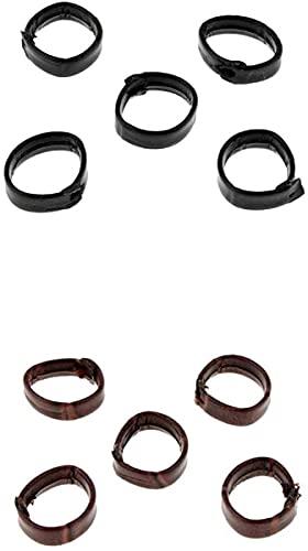 N-K 10 Stück 20mm PU-Leder-Uhrenarmband Uhrenarmband Klasse Pudding-Gruppe ersetzen Befestigungselemente Dauerhaft