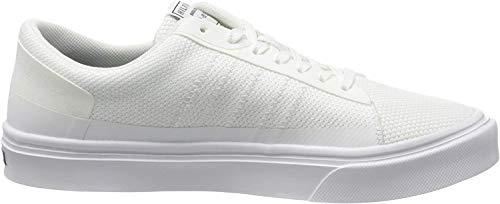 Tommy Hilfiger Herren Lightweight Stripes Knit Sneaker, Weiß (White Ybs), 42 EU