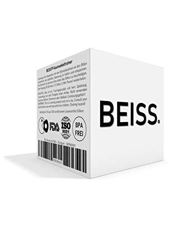 BEISS© Kau-Trainer für markante Wangenknochen und Kinnpartie | Training, Entspannung + Straffung des Gesichtes | Aktivierung von über 57 Gesichtsmuskeln | ISO-9001 zertifiziert | Erfolgsgarantie