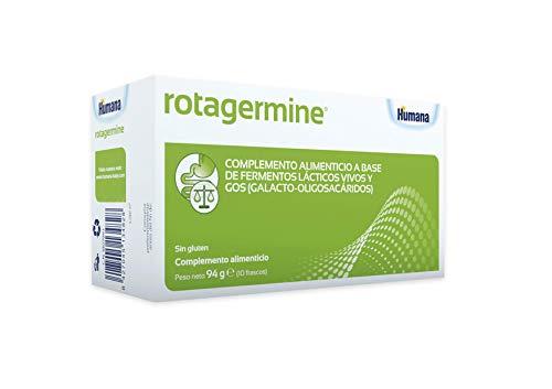 Humana ROTAGERMINE – 5 cepas de probióticos y fibras prebióticas GOS que favorecen al equilibrio de la flora intestinal, Complemento Alimenticio 10 viales.