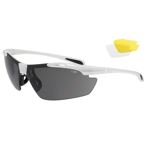 Radbrille Fahrradbrille + klare und gelbe Gläser E720-3