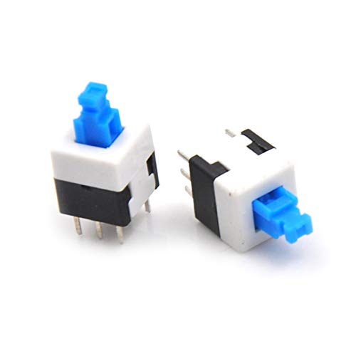 JSJJAWA Cambiar 10 unids/Lote electrónica de 8 * 8 mm 6pin Push TÁCTICO Táctil Micro Interruptor de Encendido/Apagado Interruptor de Encendido/Apagado Componente electrónico