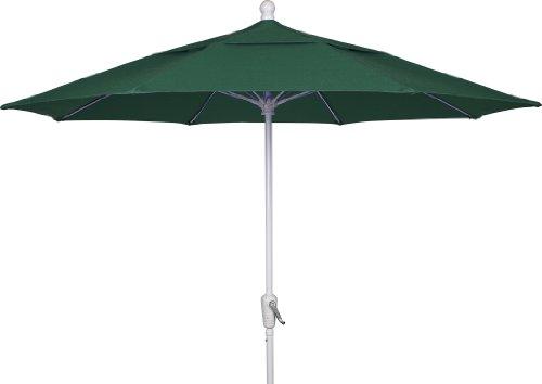 FiberBuilt Umbrellas Patio Umbrella, 9 Foot Forest Green Canopy and...