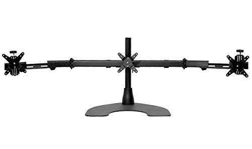 Ergotech Triple LCD Monitor Desk Mount Stand with Telescopic Wings/3 Screens up to 27'