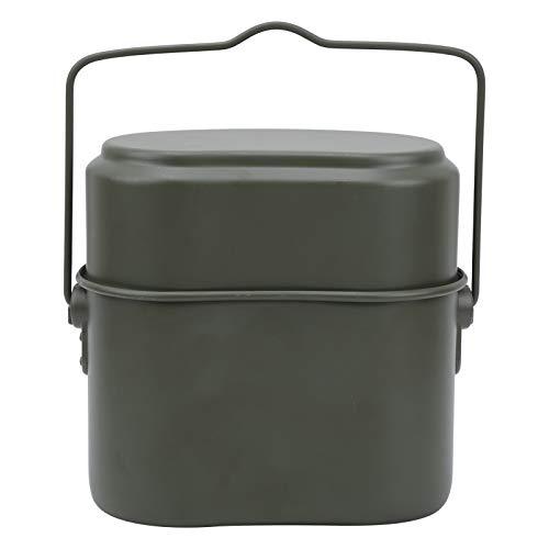 XINMYD Fiambrera Aluminio, Fiambrera de Aluminio Recipiente de Comida calentable al Aire Libre Vajilla para Acampar Fiambrera Verde