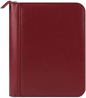 Classic FC Signature Leather Zipper Binder - Red