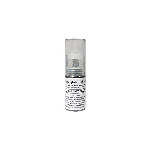 Sugarflair Comestible Polvo Soplo No-Aerosol Spray de Brillo - MEDIANOCHE NEGRO