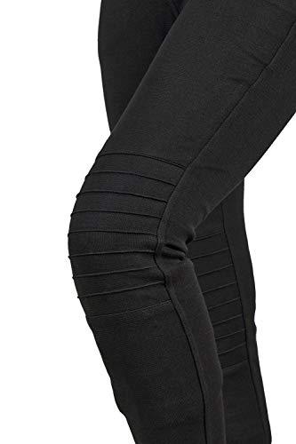 GREAT BIKERS GEAR - Motorrad Motorrad Super Leggings Hosen Damen Kevlar gefüttert Schutz Motorrad Damen Leggings mit Abnehmbarer CE-Rüstung, (kurzes Bein) (Schwarz Design, 2XL)