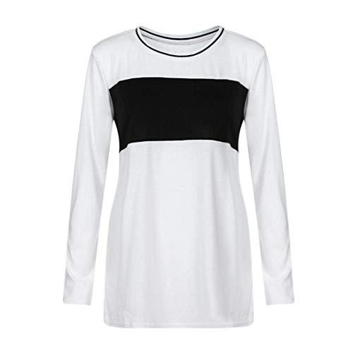 Dames lange mouwen ronde hals Elbow trui dames gepatenteerd kleurblokstrepen jongens chic zwart shirt tops sweatshirts tank top comma blouse esprit lage top