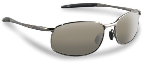 Flying Fisherman San Jose Polarized Sunglasses with AcuTint UV Blocker for Fishing and Outdoor Sports, Gunmetal Frames/Smoke Lenses