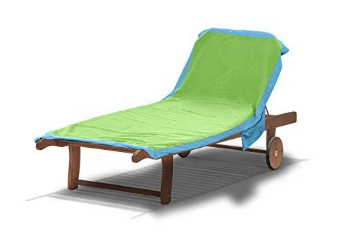 BIANCHERIAWEB Telo Mare Lettino in Microfibra Spiaggia Piscina MOD Tinta Unita Comodo 75x185 Verde-Turchese