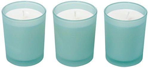 RITZENHOFF Aroma Naturals Modern Juego de 3 Velas perfumadas, Turquesa, 5 x 5 x 6 cm, 3 Unidades