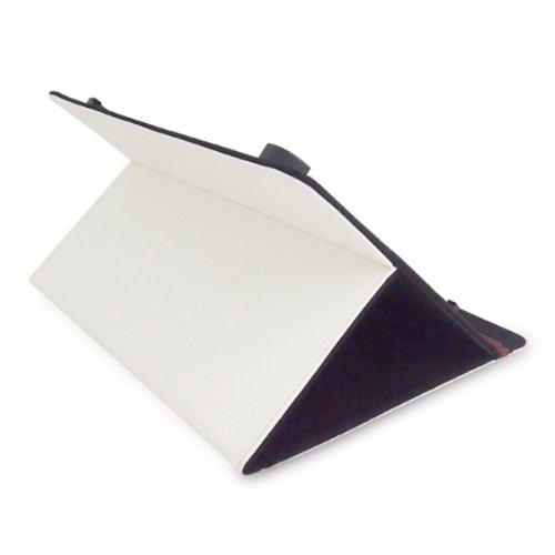 Bookstyle Tablet PC Tasche Etui Hülle Book Hülle weiss mit Standfunktion passend für Trekstor SurfTab xiron 10.1