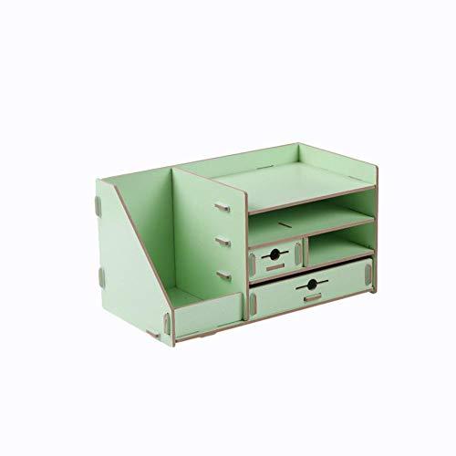 Baorio - Caja de almacenamiento para escritorio, papelería o documentos, caja de almacenamiento con cajón, caja de almacenamiento