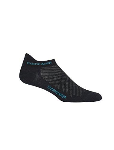 Icebreaker Run+ Ultra Light Micro Chaussettes Femme Black/lagoon FR : S (Taille Fabricant : S)