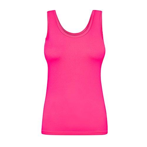 Assoluta Damen Tank Top, Größe XL, neon pink