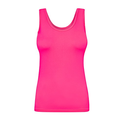 Assoluta Damen Tank Top, Größe M, neon pink