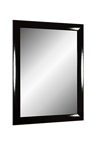 Online-GalleryKing TheMIRROR' gerahmter Spiegel aus echtem Glas 70 x 160 cm Maßanfertigung Wandspiegel in Farbe Schwarz Hochglanz z.B als Flurspiegel Salonspiegel usw.