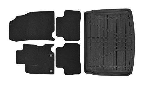 J&J AUTOMOTIVE Fußmatten + Kofferraumwanne Set für Nissan Qashqai II J11 2014-2019